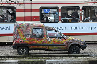 PSA Vigo Plant - Citroën C15.  This was the first Vigo produced Citroën to break through the 1,000,000 barrier, although most of the cars produced avoided the attention of Dutch graffiti artists.
