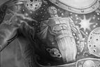 (Man) Chest tattoo. Monument to Yuri Gagarin (astronaut) in Moscow -1. Black and White.jpg