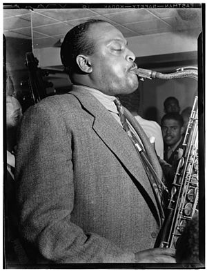 "Ben Webster - ""Portrait of Ben Webster, Famous Door, New York, N.Y., ca. Oct. 1947""."