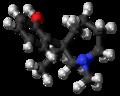 (R)-Meptazinol molecule ball.png