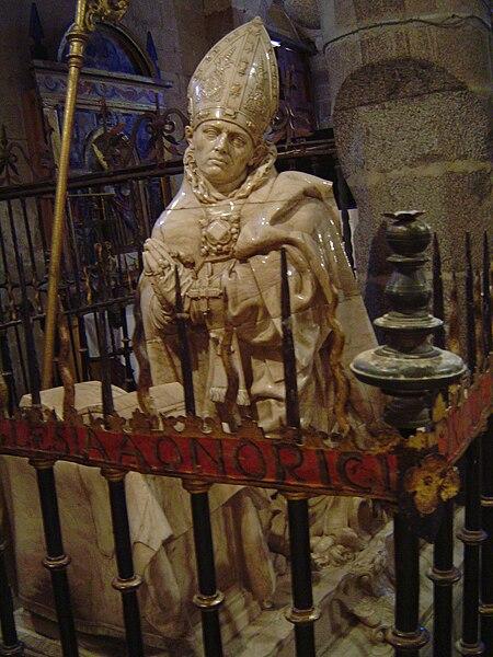 Den hellige Secundus' grav i eremitasjen San Segundo i Ávila
