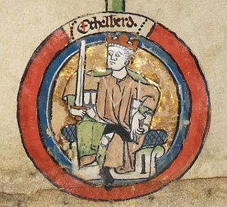Æthelberht, King of Wessex - Æthelberht in the early fourteenth-century Genealogical Roll of the Kings of England