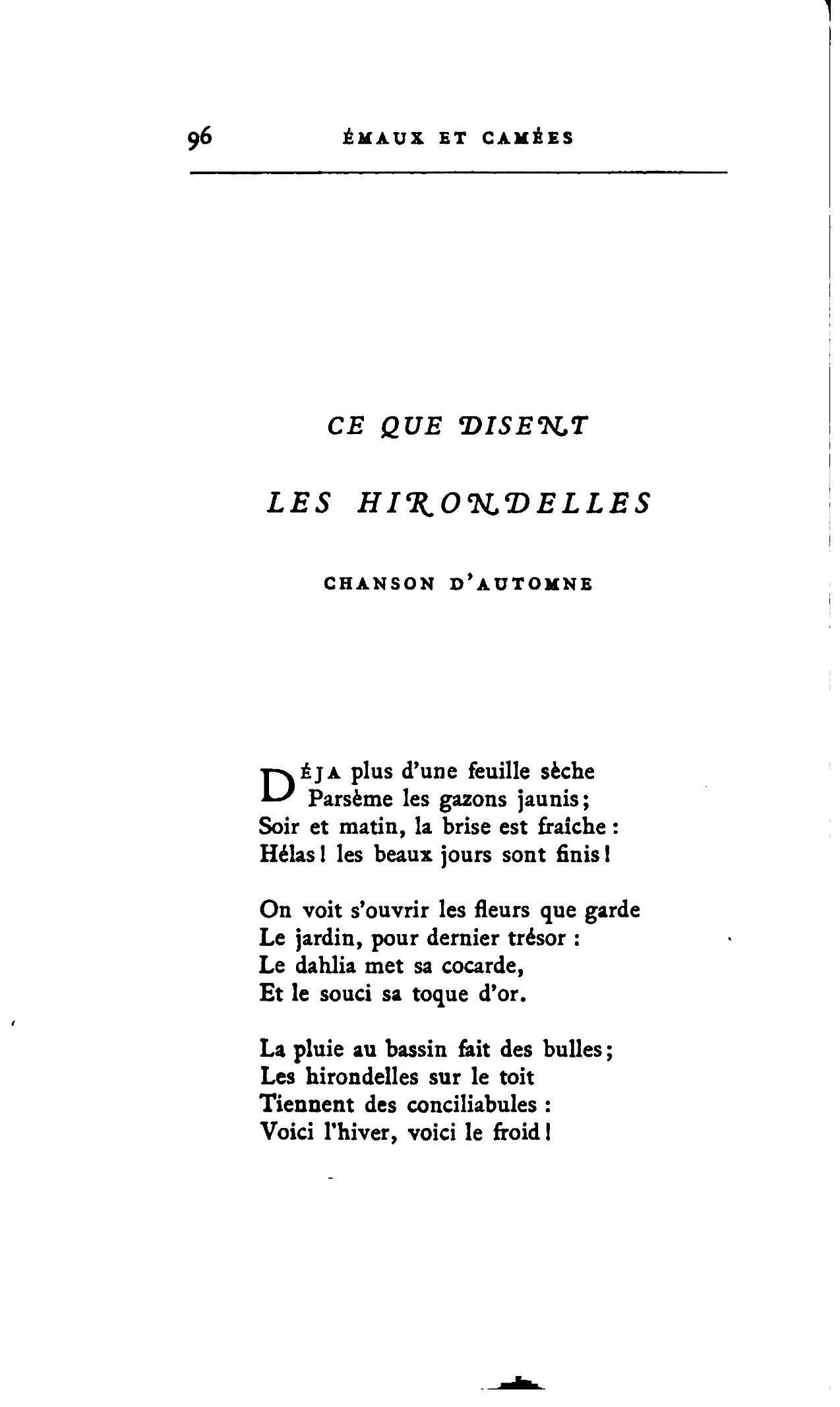 Page Œuvres de Théophile Gautier Poésies Volume 3 Lemerre