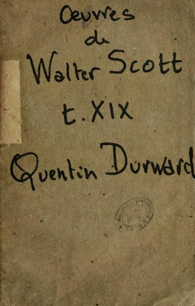 File:Œuvres de Walter Scott, Ménard, traduction Montémont, tome 19, 1838.djvu