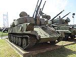 ЗСУ-23-4 «Ши́лка» и Зенитный ракетно-пушечный комплекс 2С6 «Тунгуска». Артиллерийский музей. Питер. Июль 2012 - panoramio.jpg