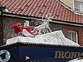 -2019-11-26 Santa's sleigh, Blythe & Wright, Station Road, Sheringham.JPG