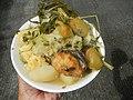 0099Nilagang repolyo, petsay Tagalog, kamote, patatas, kamatis at Pritong Dalag (Bulig) sa tanglad 31.jpg