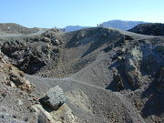Volcanic craters at Santorini today