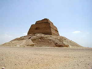 Huni - The Meidum pyramid, initially believed to have been started by Huni, is now thought to be exclusively the work of Snefru.