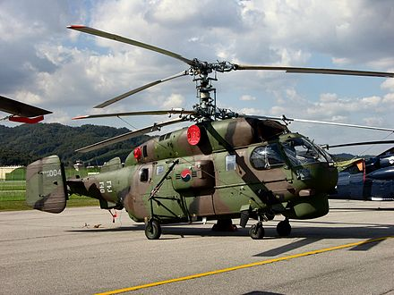 The air force operates the Kamov Ka-32A4s helicopter with local designation HH-32 for CSAR - Republic of Korea Air Force