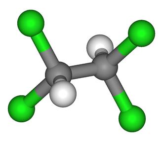 1,1,2,2-Tetrachloroethane - Image: 1,1,2,2 Tetrachloroethane 3D