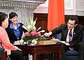 104年10月7日 馬英九總統接見美國飛虎隊陳納德將軍遺孀陳香梅女士 (21846501549).jpg