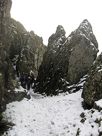 Kilpatrick Hills - Walking through The Whangie in winter