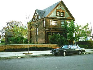 Robert M. and Matilda (Kitch) Grindley House - 123 Parsons before it was demolished