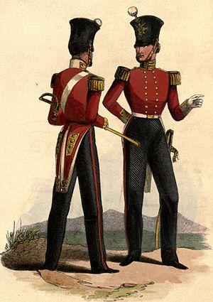 West Yorkshire Regiment - Regimental uniform, 1845