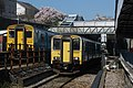 150258 and 150231 pass each other at Pontypridd Station (16513624983).jpg