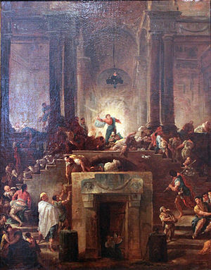 Christ Driving the Money Changers out of the Temple