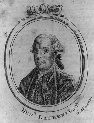 Henry Laurens - Portrait of Laurens, Boston Magazine, 1784; engraving by John Norman