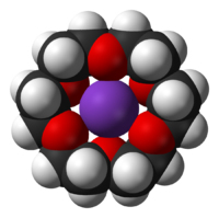 18-crown-6 coordinating a potassium ion