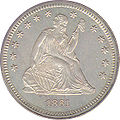 1861 quarter dollar obv.jpg