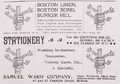 1898 SamuelWard FranklinSt Boston ad NewtonMA BlueBook.png