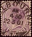 1901 2d Victoria Melbourne Yv120 Mi124 SG377 reddish violet.jpg