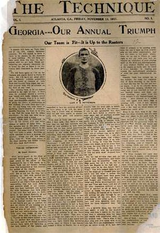 Technique (newspaper) - The front page of the first issue of The Technique