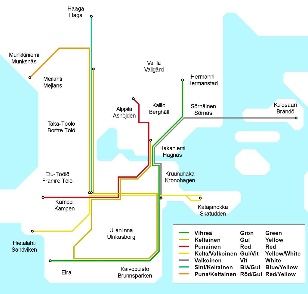 1920 Helsinki tram map