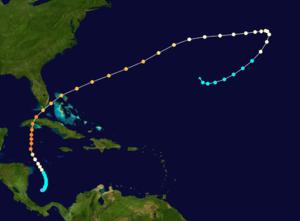 1926 Havana–Bermuda hurricane - Image: 1926 Havana Bermuda hurricane track