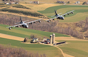 Harrisburg Air National Guard Base - EC-130E and EC-130J Commando Solo aircraft of the 193d Special Operations Wing