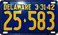 1942 Delaware license plate 25♦583.jpg