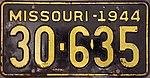 1944 Missouri license plate 30-635.jpg