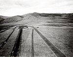 1958. John Day airstrip looking south. Spruce budworm control project. John Day, OR. (32797098260).jpg