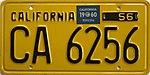 Arizona Car Registration Renewal >> Vehicle registration plates of the United States for 1960 - Wikipedia