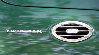 MG MGA - Twin-Cam logo next to vent