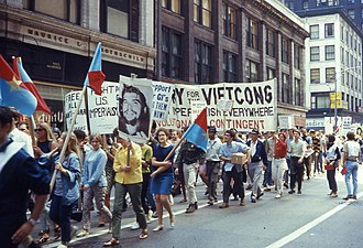 1968 Democratic National Convention protest activity - This demonstration took place on August 10, 1968 as Chicago was preparing to host the Democratic National Convention.