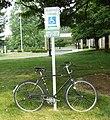 1970 Raleigh Sports 3-speed bicycle Blue Ridge Community College Weyers Cave VA June 2008.jpg