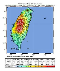 1999 Chi-Chi earthquake intensity map.jpg