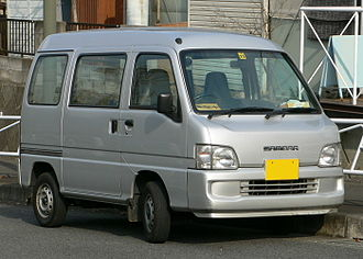 Microvan - Image: 2001 Subaru Sambar 01