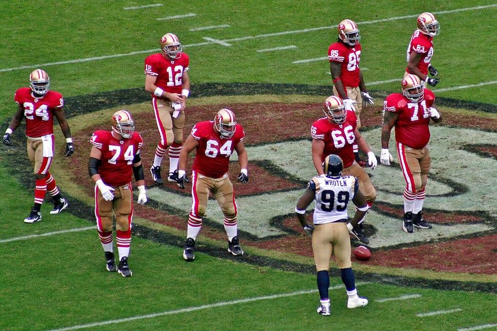 2007 San Francisco 49ers offensive line
