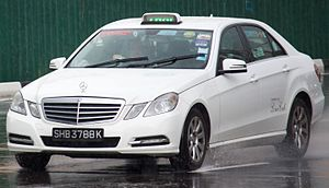 ComfortDelGro - Mercedes-Benz E 220 CDI taxicab in Singapore in January 2016