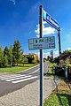 2012 Powiat pszczyński, Golasowice, Ulica Reymonta, Tablica trasy rowerowej R-4.jpg