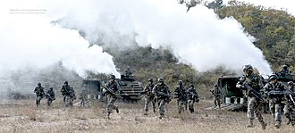 Republic of Korea Marine Corps - ROK Marines conducting defense training.