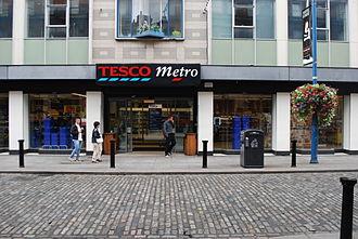 Tesco Ireland - Tesco Metro in Temple Bar, Dublin.