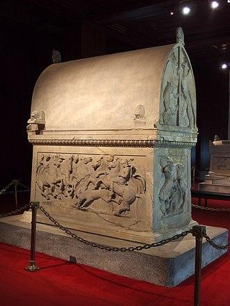 Lycian sarcophagus of Sidon - Image: 20131205 Istanbul 106