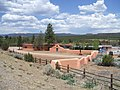 2013 - West Elevation, Kozlowski's Trading Post and Stage Stop, Santa Fe Trail, Pecos National Historic Park, the Former Forked Lightning Ranch - panoramio.jpg