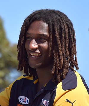 Nic Naitanui - Naitanui at the 2015 AFL Grand Final Parade