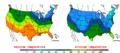 2016-04-06 Color Max-min Temperature Map NOAA.png