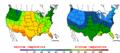 2016-04-15 Color Max-min Temperature Map NOAA.png