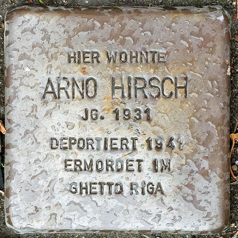 2017 10 05 Stolpersteine Duelken Hirsch Arno.jpg